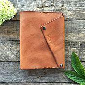 Ежедневники ручной работы. Ярмарка Мастеров - ручная работа Ежедневник А5 светло-коричневый. Handmade.