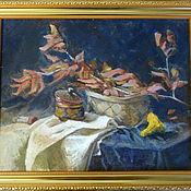 """Картины и панно ручной работы. Ярмарка Мастеров - ручная работа Картина маслом """"Осенний натюрморт"""" 2. Handmade."""