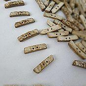 Материалы для творчества ручной работы. Ярмарка Мастеров - ручная работа Пуговицы палочки кокос светлые 30 мм. Handmade.