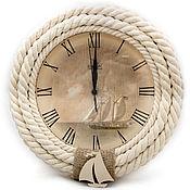 """Для дома и интерьера ручной работы. Ярмарка Мастеров - ручная работа Корабельные настенные часы """"Морские"""". Handmade."""