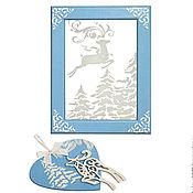 Подарки к праздникам ручной работы. Ярмарка Мастеров - ручная работа Новогоднее панно  «Зимний лес». Handmade.