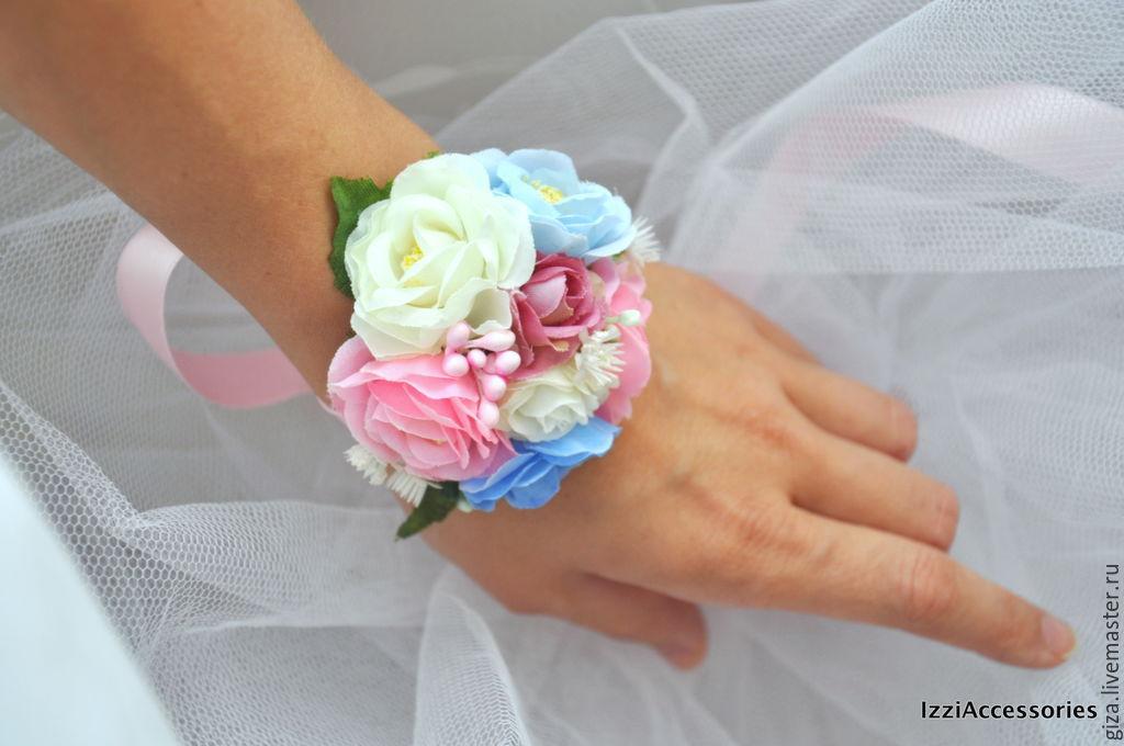 Цветок на руку подружкам невесты своими руками мастер класс 15