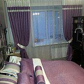 Для дома и интерьера ручной работы. Ярмарка Мастеров - ручная работа Шторы,покрывало,органза и подушки в спальню.. Handmade.