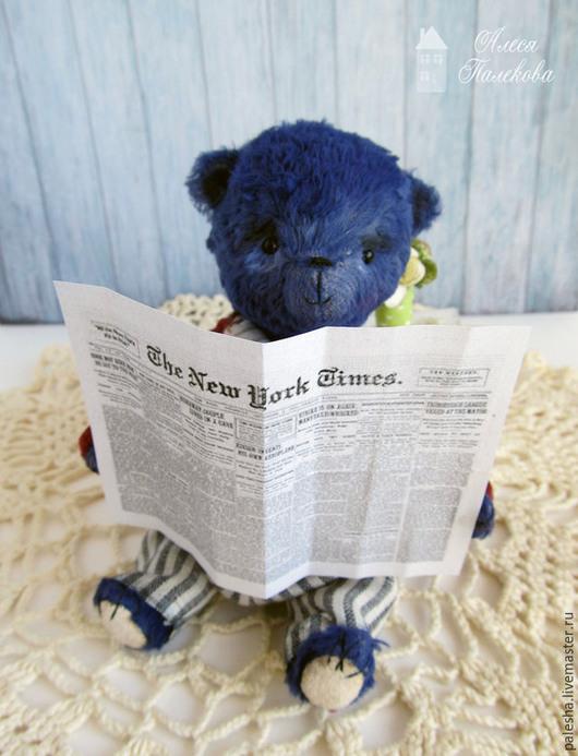 Мишки Тедди ручной работы. Ярмарка Мастеров - ручная работа. Купить Мишка Филипп. Handmade. Тёмно-синий, медведь тедди