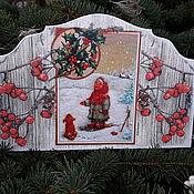 """Картины и панно ручной работы. Ярмарка Мастеров - ручная работа Панно надверное новогоднее """"Варенька"""". Handmade."""