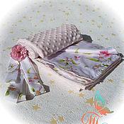 """Для дома и интерьера ручной работы. Ярмарка Мастеров - ручная работа Детский плед, одеяло, конверт """"Розочка"""" (3 в 1). Handmade."""