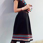 Одежда ручной работы. Ярмарка Мастеров - ручная работа Бохо-юбочка из шерсти с отделкой, бохо-стиль. Handmade.