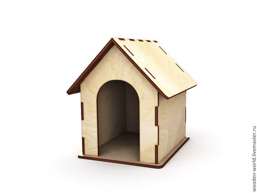 Кукольный дом ручной работы. Ярмарка Мастеров - ручная работа. Купить Будка для собачки как дополнение к кукольному домику. Handmade. Домик