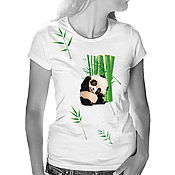 Одежда handmade. Livemaster - original item T-Shirt Panda. Handmade.