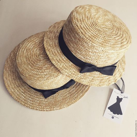 """Шляпы ручной работы. Ярмарка Мастеров - ручная работа. Купить Шляпка """"Канотье"""". Handmade. Бежевый, соломенная канотье"""