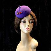 """Аксессуары ручной работы. Ярмарка Мастеров - ручная работа """"Смородина"""" маленькая шляпка. Handmade."""