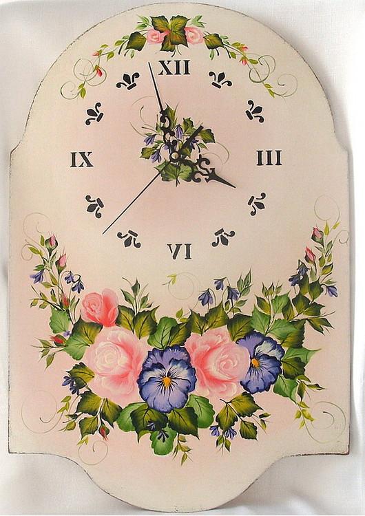 Clocks for Home handmade. Livemaster - handmade. Buy Wall clock in the style of 'Shabby chic' 'Tenderness 2'.