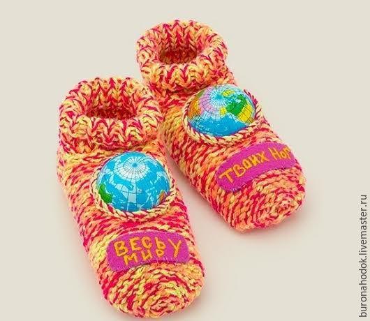 Обувь ручной работы. Ярмарка Мастеров - ручная работа. Купить Носки Весь мир у твоих ног. Handmade. Розовый, мир