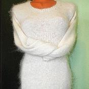 Одежда ручной работы. Ярмарка Мастеров - ручная работа платье-туника из козьего пуха. Handmade.