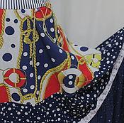 """Одежда ручной работы. Ярмарка Мастеров - ручная работа Юбка длинная  """"Морской стиль"""". Handmade."""