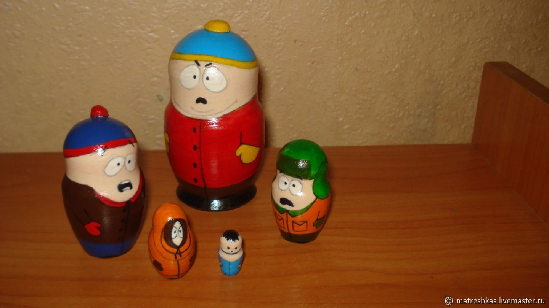 Matryochka Dolls handmade. Livemaster - handmade. Buy Matryoshka doll South Park.Toy, new year, copyright, tree