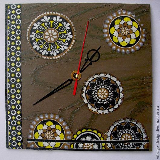 """Персональные подарки ручной работы. Ярмарка Мастеров - ручная работа. Купить часы настенные """"Орнамент"""". Handmade. Часы настенные, старение"""