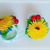 Работы для детей, handmade. Livemaster - original item Hair bands Dandelion berries, elastic bands for girls. Handmade.