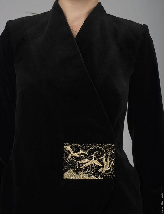 Пиджаки, жакеты ручной работы. Ярмарка Мастеров - ручная работа. Купить Пиджак бархатный коллекция Арт Деко. Handmade.