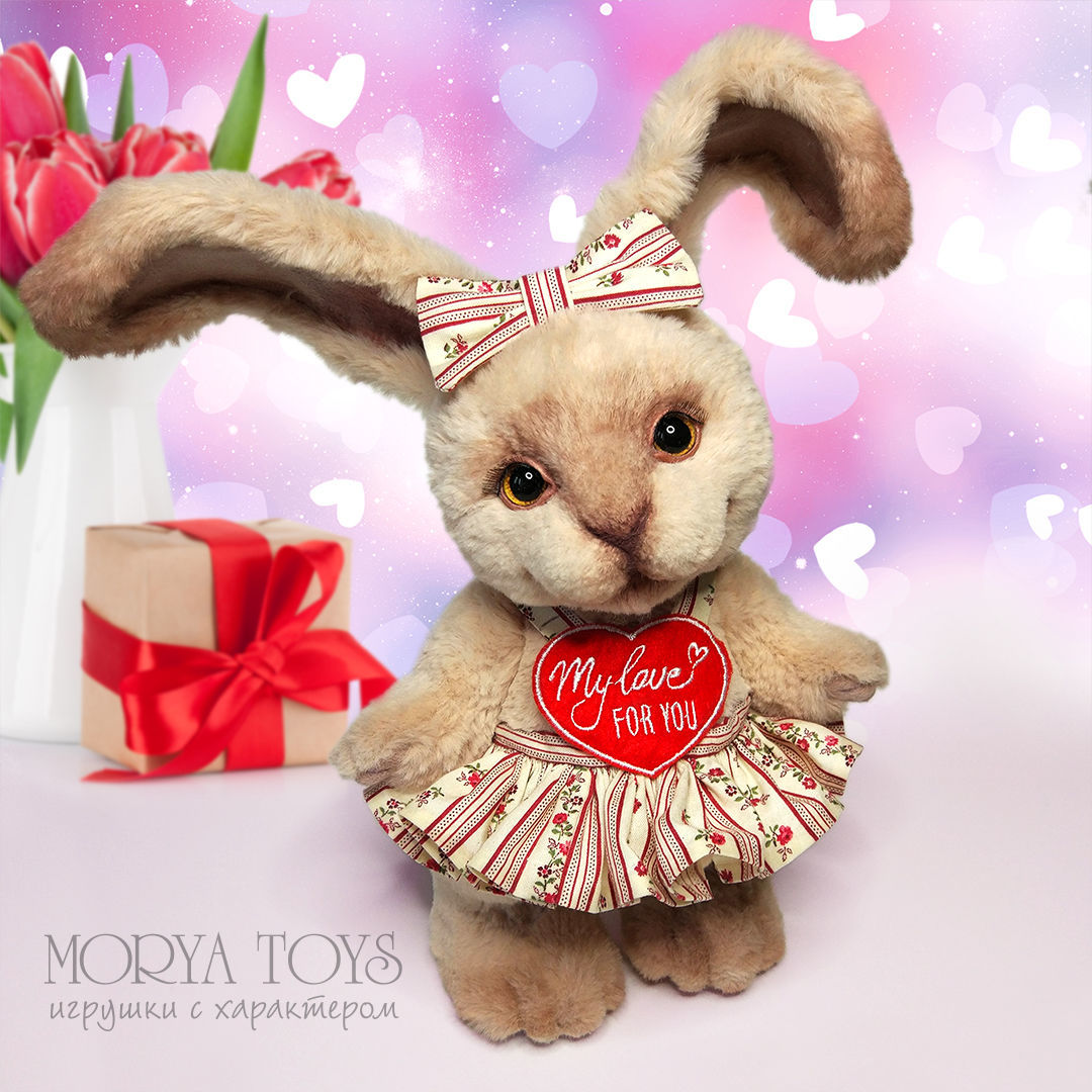 A bunny with a romantic message, Teddy Toys, Ekaterinburg,  Фото №1