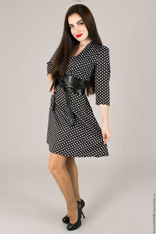 Платья ручной работы. Ярмарка Мастеров - ручная работа. Купить Платье в горох. Handmade. Черный, платье в горошек, праздничное платье