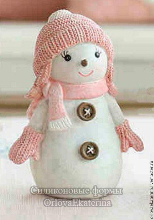 Материалы для косметики ручной работы. Ярмарка Мастеров - ручная работа. Купить Силиконовая форма снеговик девочка. Handmade. Голубой