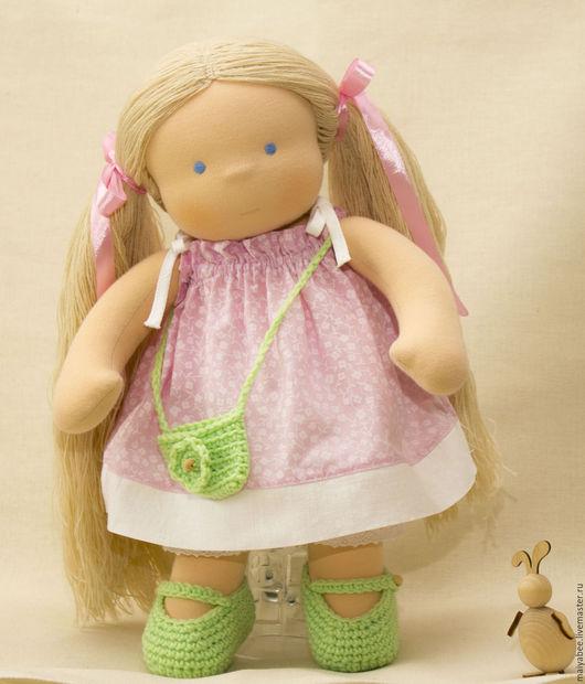 Вальдорфская игрушка ручной работы. Ярмарка Мастеров - ручная работа. Купить Кукла для Ренаты, 40 см. Handmade. Голубой
