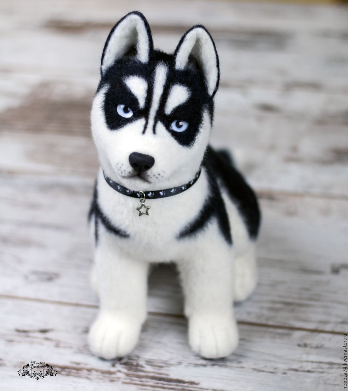 Husky dog toy made of felt – shop online on Livemaster with