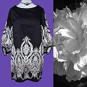 Одежда ручной работы. Ярмарка Мастеров - ручная работа Нарядное платье Алекс из итальянского хлопка. Handmade.