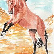Картины и панно handmade. Livemaster - original item Playful horse. Handmade.