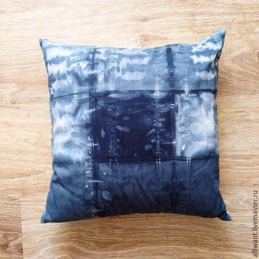 Текстиль, ковры ручной работы. Ярмарка Мастеров - ручная работа. Купить Подушка 40х40 см. Handmade. Тёмно-синий