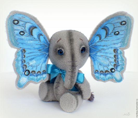 """Игрушки животные, ручной работы. Ярмарка Мастеров - ручная работа. Купить Слонобабочка """"Голубой туман"""". Handmade. Голубой, оригинальный подарок"""