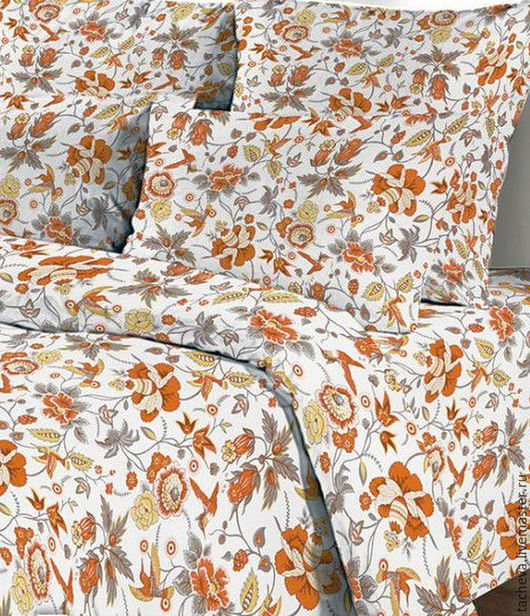 Текстиль, ковры ручной работы. Ярмарка Мастеров - ручная работа. Купить Льняной постельный  комплект - торжество. Handmade. Комбинированный