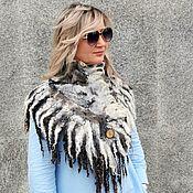Аксессуары handmade. Livemaster - original item Boa felted scarf Eco fur, Boa, collar warm. Handmade.