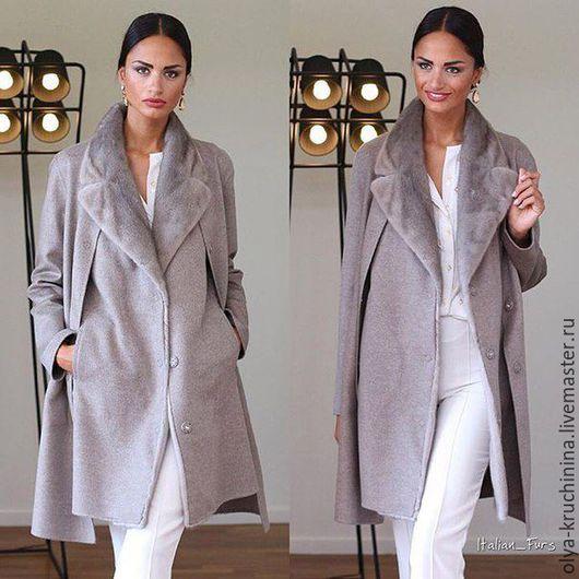 Верхняя одежда ручной работы. Ярмарка Мастеров - ручная работа. Купить Пальто с жилетом (пальто-двойка). Handmade. Серый
