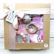 Куклы и игрушки handmade. Livemaster - original item Gift set for girls grey-light pink-white. Handmade.