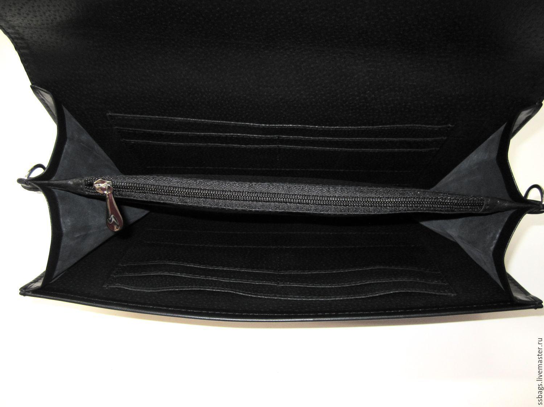 aff4dc5d6a63 Маленькая сумочка. Клатч кожаный черный.clutch – купить в интернет ...