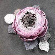 Украшения handmade. Livemaster - original item Brooch - handmade flower, dusty rose color, Dawn Powder. Handmade.