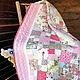 Розовое детское лоскутное одеяло покрывало  `Летние Грезы` . Мастер Lady Olga (Ольга)