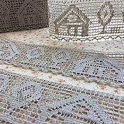 Материалы для творчества handmade. Livemaster - original item Lace linen gray