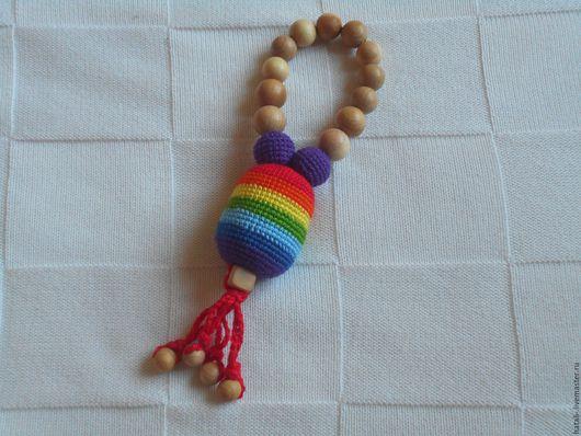 """Развивающие игрушки ручной работы. Ярмарка Мастеров - ручная работа. Купить Погремушка """"Радуга"""". Handmade. Разноцветный, слингоигрушка, игрушка для младенца"""