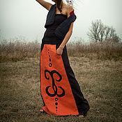 Одежда ручной работы. Ярмарка Мастеров - ручная работа Юбка льняная Arabesco. Handmade.