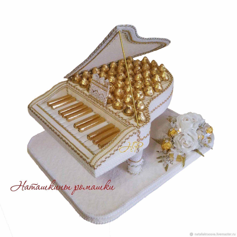 """Композиция из конфет """"Белый рояль"""", Подарки, Москва, Фото №1"""