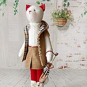 """Куклы и игрушки ручной работы. Ярмарка Мастеров - ручная работа Кошка """"Город Лондон прекрасен, особенно в дождь"""". Handmade."""