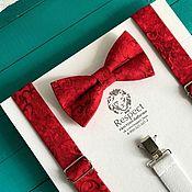 Аксессуары handmade. Livemaster - original item Red tie suspenders pattern Red Hot Chili Pepper. Handmade.