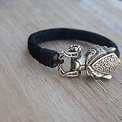Украшения handmade. Livemaster - original item Bracelets: Men leather bracelet - Bear. Handmade.