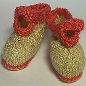 """Работы для детей, ручной работы. Ярмарка Мастеров - ручная работа Пинетки-""""ботиночки"""" из натуральной шерсти ручной работы. Handmade."""