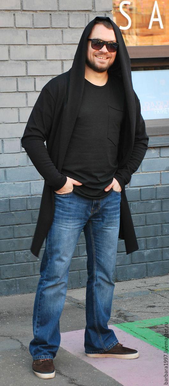 Пиджаки, жакеты ручной работы. Ярмарка Мастеров - ручная работа. Купить Мужской кардиган BLACK. Handmade. Черный, стильная одежда