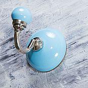 Для дома и интерьера ручной работы. Ярмарка Мастеров - ручная работа Керамический крючок голубой. Handmade.
