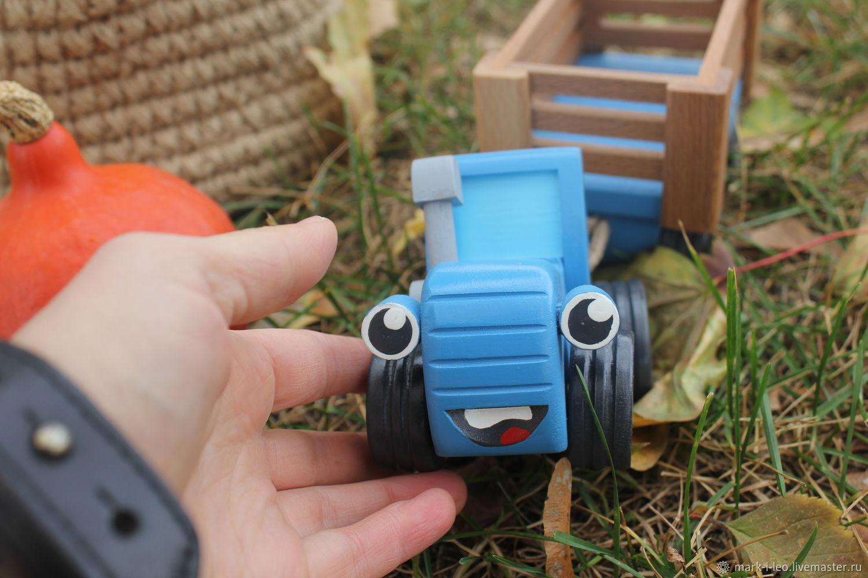 Игрушка Синий трактор из мультика, Техника роботы транспорт, Москва,  Фото №1
